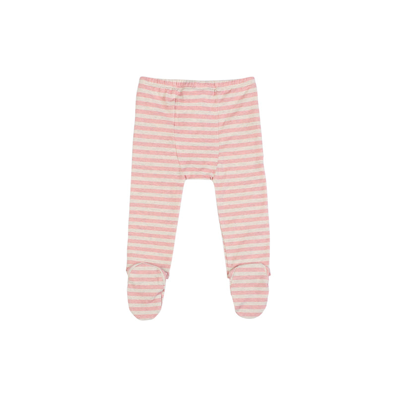 Leggings with Feet - Pink Stripes