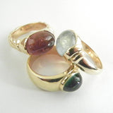 14kt Green Tourmaline Cabochon Ring