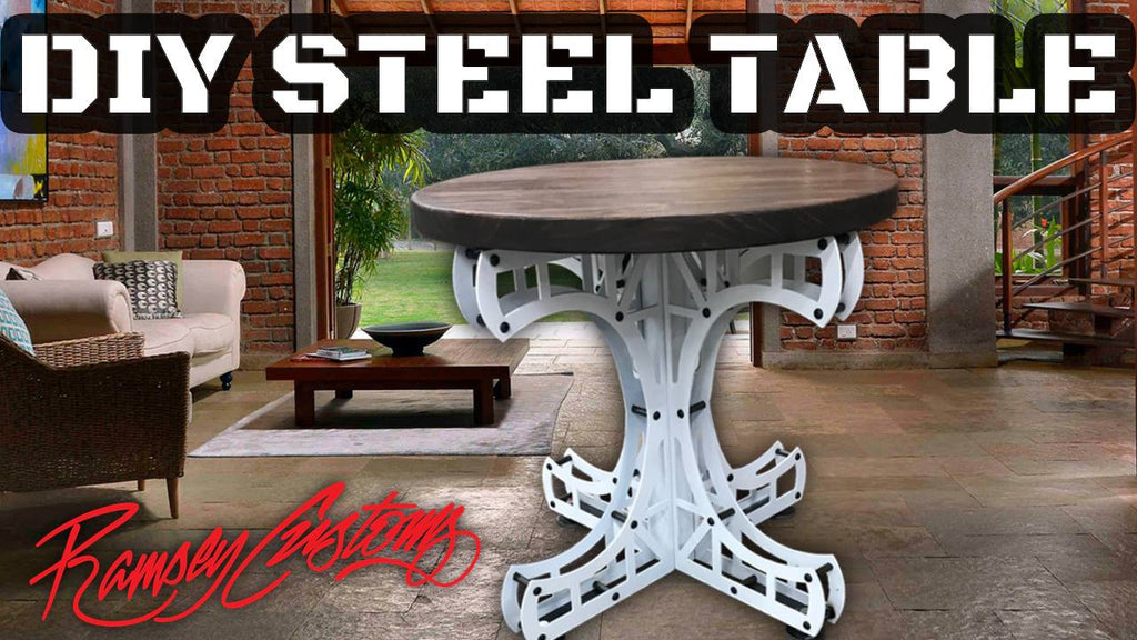 Steel Small Bridge Table CAD Vector Files