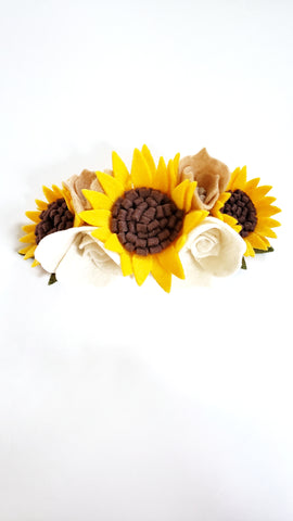 Floral Fusion Sunflower Crown