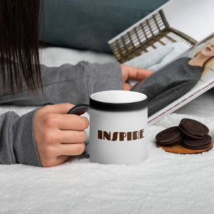 Inspire Matte Black Magic Mug