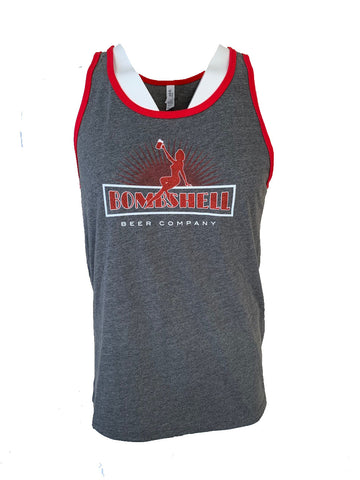 Tank Top Red Trim Unisex