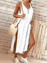 Load image into Gallery viewer, 2019 Round Collar Plain Loose Soft Vacation Dress