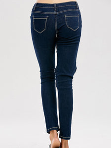 Hollow Out Slimming Jeans For Women
