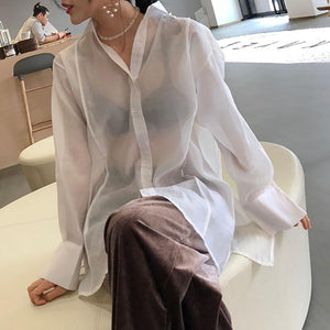 Sexy Fashion Long   Sleeve Blouse