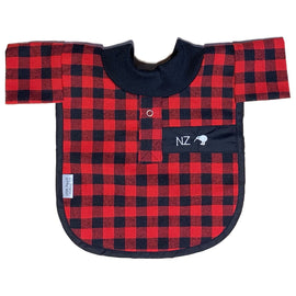 Little Poppet | Bib - Red Bush Shirt