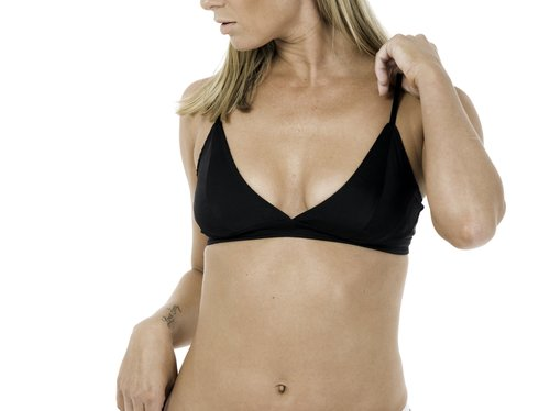 ZAP Organic Silk Soft Bra in Pitch Black