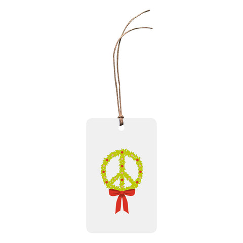 'Peace Wreath' Christmas Gift Tag