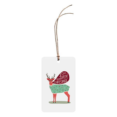 'Oh Hey! Happy Christmas Reindeer' Christmas Gift Tag