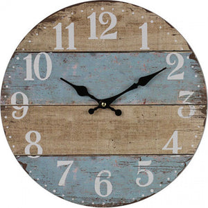 Beach Style Wall Clock - Blue