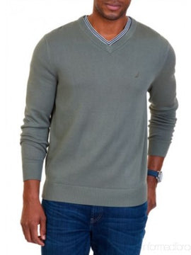 NAUTICA V NECK SWEATER GRAY