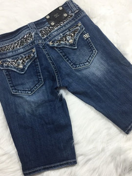MISS ME BERMUDA STUD FLAP POCKET SHORT