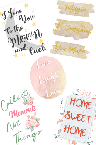 Positive and Fun Wall Art Signs that are printable