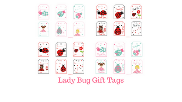 Lady Bug Gift Tags