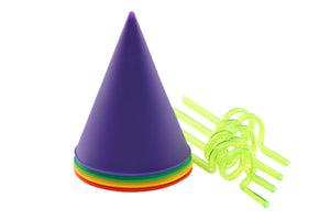 Jelly Belly Silicone Snow Cone Cups and Swirl Straws