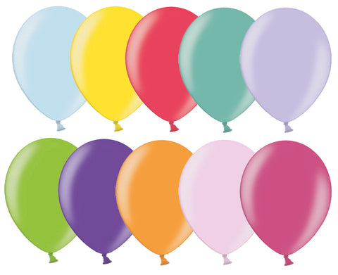 Latex Assorted Metallic Balloons | 12""
