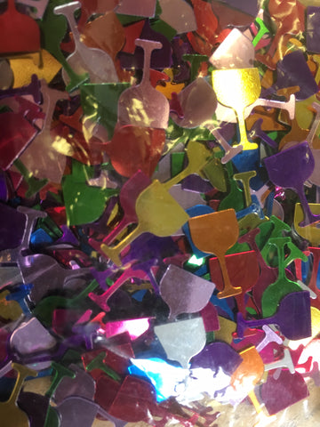 Champagne Glass Assorted Confetti