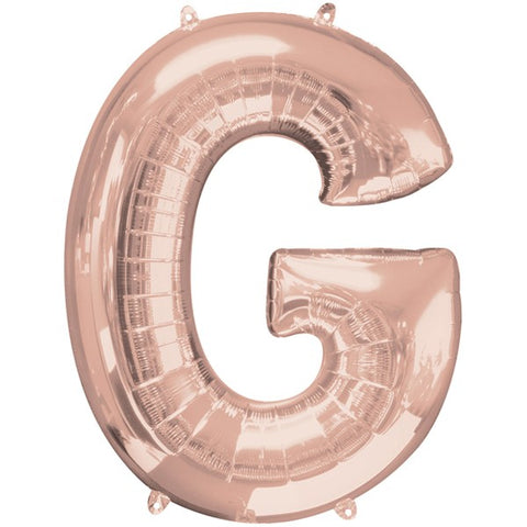 Foil Letters Metallic Rose Gold Balloons | 34""