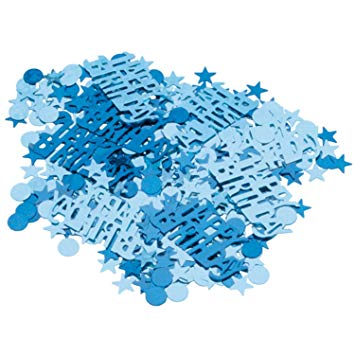 Blue Birthday Confetti
