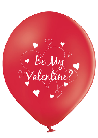 Latex Preprinted Be My Valentine Balloons | 12""