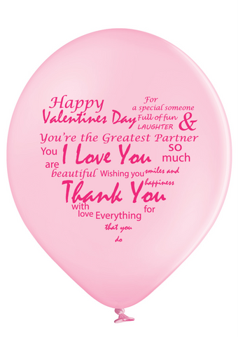Latex Preprinted Valentine's Day Balloons | 12""