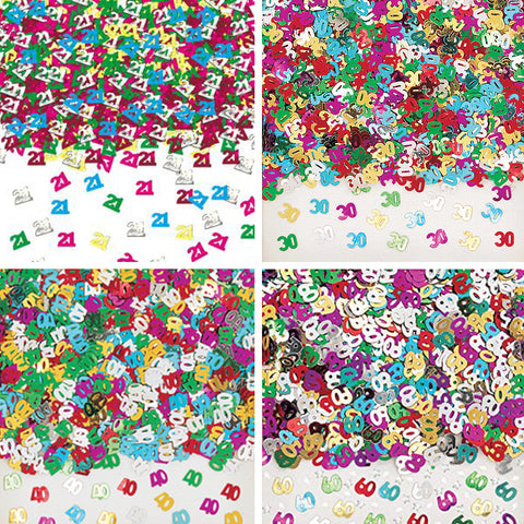 Assorted 'Numbers' Birthday Confetti
