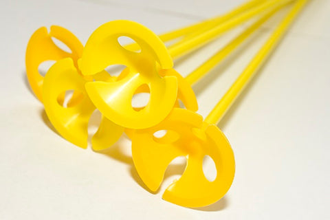 Balloon Cups & Sticks | Yellow