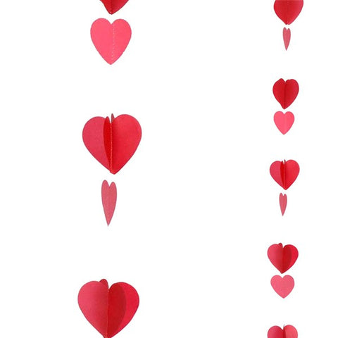 Red And White Hearts Balloon Tail | 1.2m