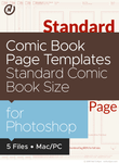 Comic Book Page Templates in Standard Comic Book Size for Photoshop