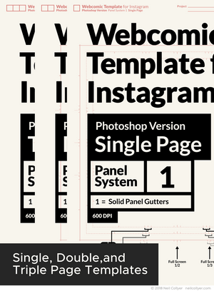 Instagram Webcomic Page Templates for Photoshop