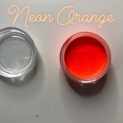 Neon Orange Paint Pot