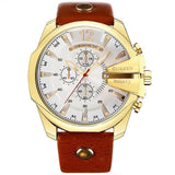Stylish Mens Quartz Watch - Golden White - Mechanical Watches