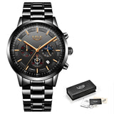 Stainless Steel Mens Dress Watch - Mechanical Watches