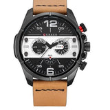Leather Quartz Sport Watch - 3 - Watches