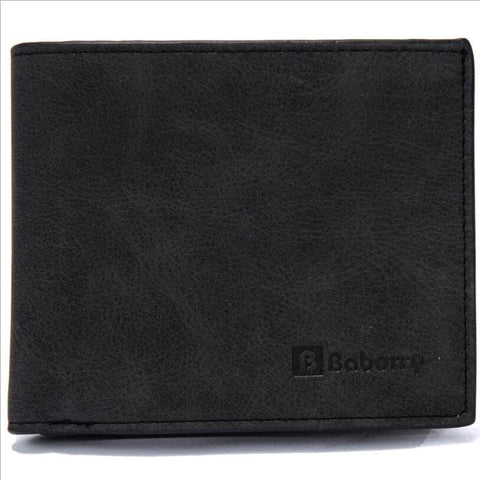 Leather Bifold Wallet With Zipper - Black - Bifold Wallet