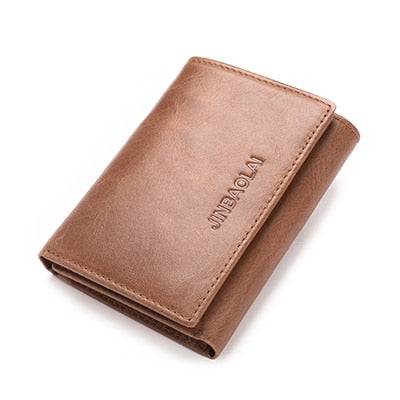 Trifold Wallet In Dark & Light Brown - Light Coffee - Trifold Wallet