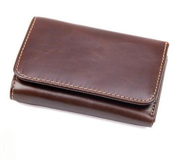 Trifold Leather Wallet - Deep Brown - Trifold Wallet