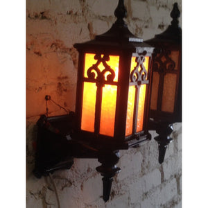1920s Cast Iron Porch Sconces