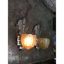 Load image into Gallery viewer, 1752 Vintage Lincoln Art Deco Wall Sconces
