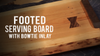 Make a Footed Serving Board with Bow-tie Inlay