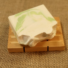 Load image into Gallery viewer, Clover and Aloe Cold Processed 4oz Bar Soap - MadeByMiller