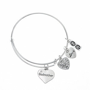 Godmother Bangle Bracelet- Godmother Gifts- Godmother Jewelry- Perfect Gift for Godmothers