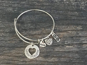 Mother Daughter Bracelet - Mother Daughter Jewelry-Mother Daughter Bangle- Perfect Gift for Mom or Daughter