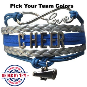 Cheer Bracelet - 22 Team Colors - Infinity Collection