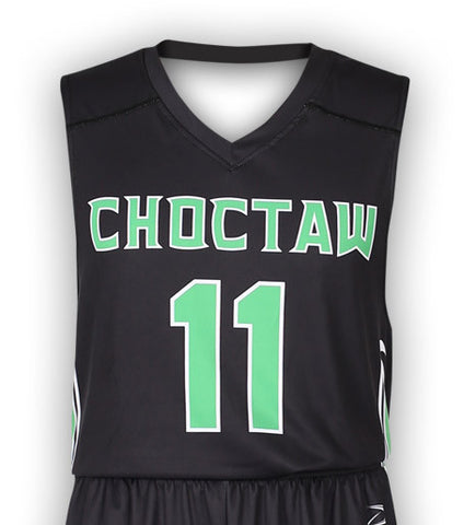 """Breaker"" Custom Sublimated Basketball Jersey Front View"