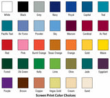 Screen Print Color Selection
