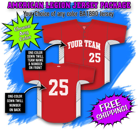 BBPAK7 American Legion Baseball Jersey Package