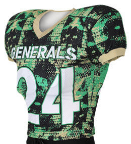 Alternative Camo Custom Sublimated Raglan Football Jersey
