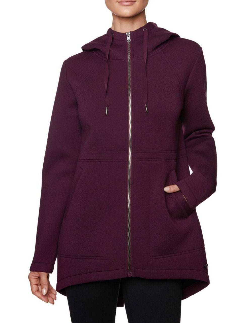 BONDED ANORAK JACKET WINE - APPAREL - Betsey Johnson