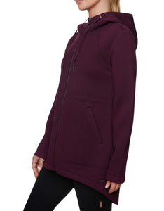 BONDED ANORAK JACKET WINE